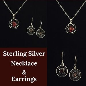 Jewelry - Sterling Silver Heart Necklace Set